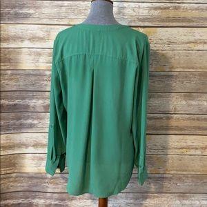 Split neck blouse